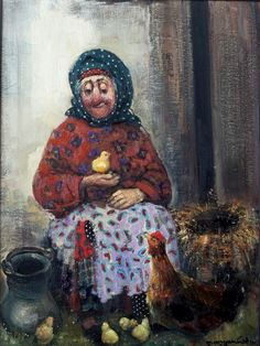 Lado Tevdoradze - an old woman ^_^ such a warm painting!