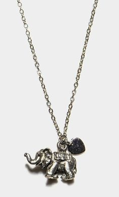 Elephant Love Pendant Necklace