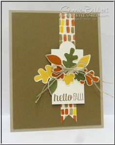 Fall Fest, Fun Fall Framelits, Stampin' Up!, #stampinup, #fallfest, #hellofall, leaves, Connie Babbert, www.inkspiredtreasures.com