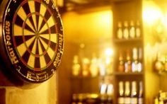 Bar Games - Giant Tumbling Towers w/ some Darts... OHH YEAHH :)