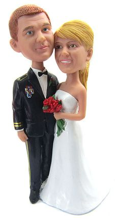 Army Officer Wedding Cake Topper .. SUPER CUTE!