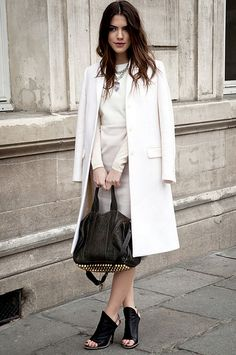 #all white   black accessories  outfit women #2dayslook #new fashion #outfitstyle  www.2dayslook.com