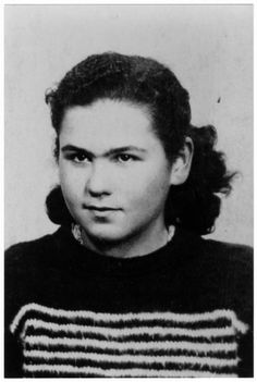 Portrait of Anna Csech (later Klein), a member of the Hungarian Zionist youth resistance organization. 1944.