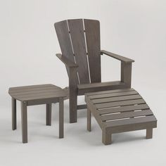 Gray Coastal Adirondack Collection at Cost Plus World Market >> #WorldMarket Movie Night Giveaway Sweepstakes  http://sweeps.piqora.com/worldmarket