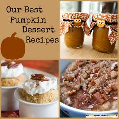 Make luscious pumpkin desserts all throughout the fall season with this handy collection of Our Top 10 Pumpkin Dessert Recipes. These easy pumpkin desserts can all be made using your slow cooker.