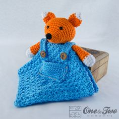 Fox Lovey / Security Blanket - PDF Crochet