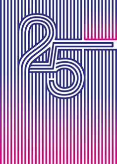 Typographic posters by Manolo Guerrero, numbers