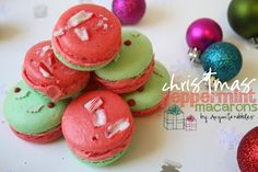 Christmas Peppermint Macarons from www.anyonita-nibb...