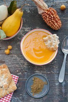 Vellutata di zucca e carote al cumino