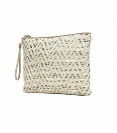 @Who What Wear - LOFT Zig Zag Raffia Clutch ($40)  Ditch the bulky tote, and opt for this chic raffia clutch, instead.