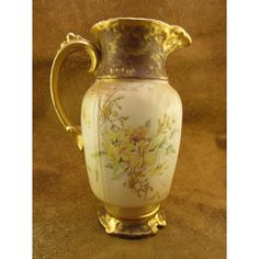 Antique Limoges Chocolate Pot with Yellow by 4GetMeNotTreasures,