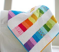 Happy Modern Quilts: An Evolved Rainbow Quilt
