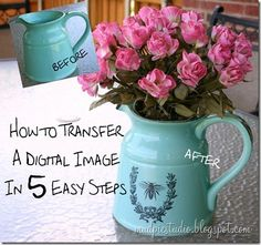Mud Pie Studio: How to Transfer a Digital Image in Five Easy Steps