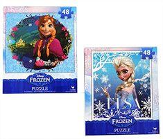 Frozen Princesses Anna and Elsa 48 Piece Puzzles (Set of 2 Puzzles) Disney http://www.amazon.com/dp/B00GUUQM8I/ref=cm_sw_r_pi_dp_E0QXtb028X7H400H
