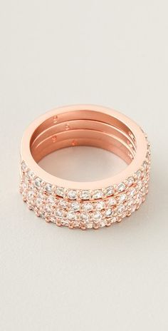 Love these stackable Rose Gold rings! #MallyTrends