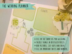 So many people waste tons of money on planning tools...Planning the Wedding: Free Printable Wedding Planner