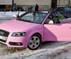 Pink Audi convertable=one of my dream cars
