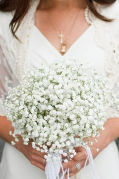 Baby's Breath Bridal Bouquet | Kate Osborne | TheKnot.com