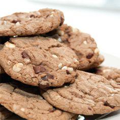 Bourbon-Cinnamon Double Chocolate Chunk Cookies