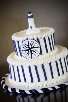 nautical baby shower cake #nauticalcake #babyshower
