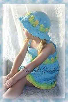 Ravelry: Blossoming Beauty Sundress - Toddler Version pattern by Lisa Naskrent Crochet Crochet, Tiernos Crochet, Crochet Children, Crochet Hats, Blossoms Beauty, Sundresses Pattern, Toddlers Crochet, Crochet Pattern, Beauty Sundresses