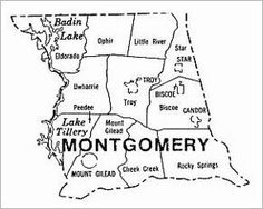 Very older map of Montgomery