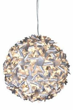 This eco-friendly pendant is basically a bunch of recycled aluminum pinwheels arranged together! #EUK4061 - Euro Style Lighting