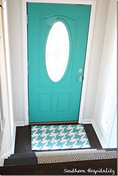 Paint the inside of your front door to match your entry hall decor.