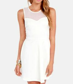 White summer dress with bow back!