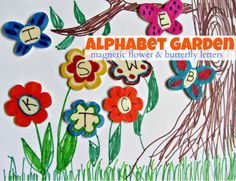 Magnetic Garden Alphabet - 5th part in a series of alphabet activities for young kids