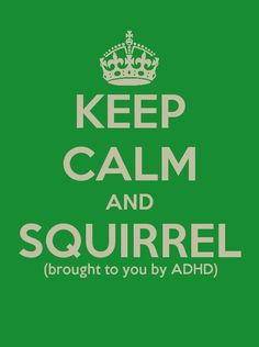 Keep calm and squirrel! @Cassidy Ratliff