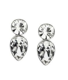 Silver rhinestone earrings for light green prom dresses #jewelry #stpatricksday #silver #sparkling