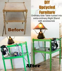 #DIY Furniture Makeover using Elmer's ProBond Advanced. A splash of paint and some storage hooks can make all the difference in the world. #upcycle