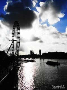 'london by day' photograph placed on canvas.