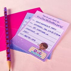 Use these Doc McStuffins Party Invitations for your little one's next get together.