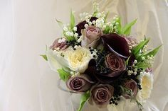 Lily of the Valley, Rose & Calla Lily Wedding Bouquet