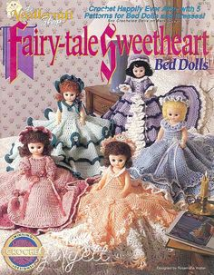Free Bed Doll Patterns | ... Tale Sweetheart Bed Dolls Clothing Dolls Crochet Patterns New | eBay