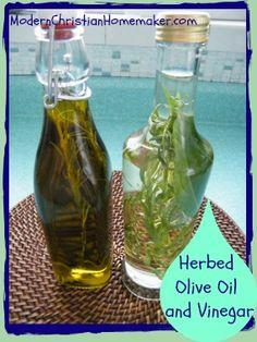Herbed Olive Oil and Vinegar