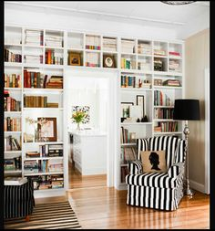 over the door shelves. Great way to get that 'library' look without taking up too much wall space.