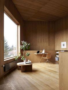wooden study