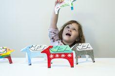 Made by Joel Holiday Reindeer Cards #Printables #kids
