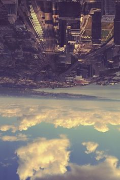 #city #sky #buildings #horizon #upsidedown