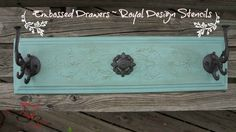 Repurposed Drawer Fronts - Royal Design Stencils