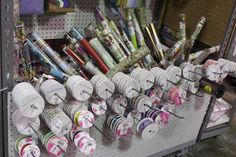 Ribbons galore! All colors, prints and sizes for any crafty project. #TuesdayMorning #seektheunique
