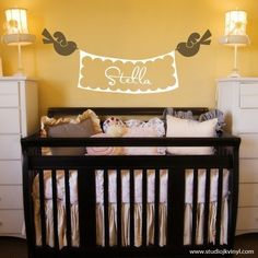 baby girl rooms, branch, nurseri, baby girls, wall stickers