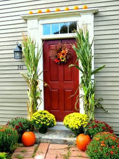 Tweak It Tuesday fall decor, fall yall, front doors, autumn decor, hous, fall leav, door deck, homes, autumn fever