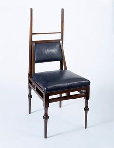 LavishShoestring.com |  Chair        Place of origin:        London, England (made)      Date:        ca. 1885 (made)      Artist/Maker:        Godwin, Edward William, born 1833 - died 1886 (designer)      William Watt  Co. (possibly, maker)      Materials and Techniques:        Ebonised oak, with turned decoration on the legs; modern upholstery