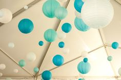 pretty lanterns, beauti blue, blue lantern