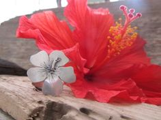 Hibiscus Ring - hand crafted in sterling silver and made to order in your size by JoDeneMoneuseJewelry $85.