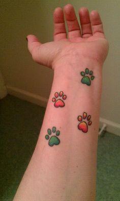 Love <3 paw print tattoo